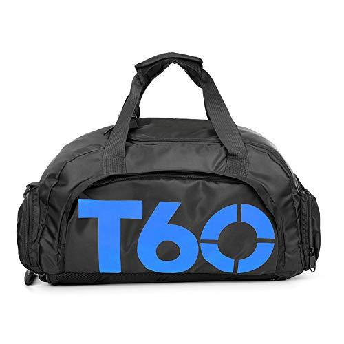 Bolsa de deportes unisex de 35 L, de gran capacidad, con compartimento para zapatos, de Obling, color Negro con azul., tamaño 45*25*30 CM