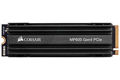 Corsair MP600, Force Series, 500 GB Ultra Schnelle Gen 4 PCIe x4, NVMe M.2 SSD (Lesegeschwindigkeitenvon bis zu 4.950 MB/s sowie sequenziellen Schreibgeschwindigkeiten bis 2.500 MB/s)