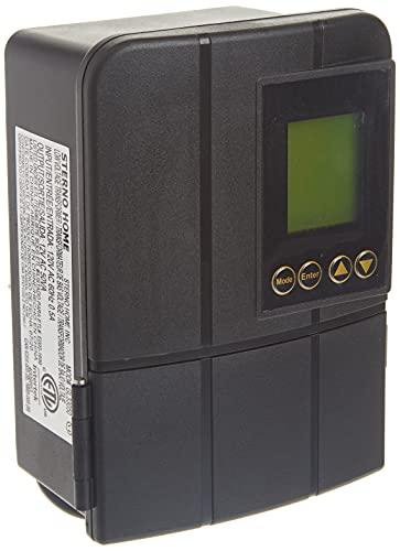Sterno Home GL33050 12V 50W Low Voltage Landscape Lighting Transformer with Dusk-to-Dawn Timer, Grey