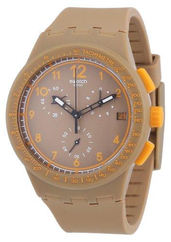 Swatch Unisex-Armbanduhr Chrono Plastic Crazy NUT Chronograph Silikon SUSC400