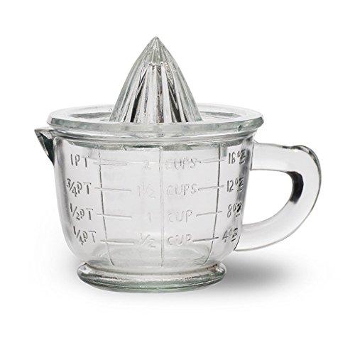 CKB Ltd® Traditional Vintage Glass Juicer Zitruspresse und Krug aus Glas, für Entsafter Set - 1 Pint 600ml -Der ideale Weg, um frische Orangen, Zitrone oder Limette zu quetschen