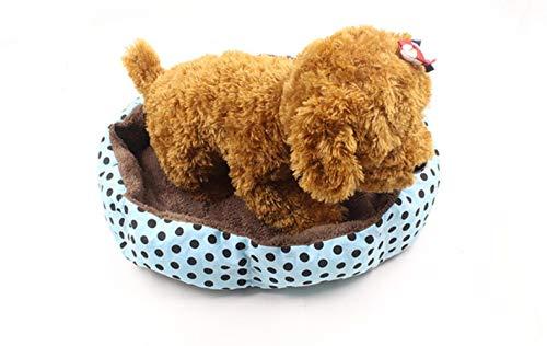 Hondenmand voor honden, warm, van velours, katoen, zacht, winterbed, warm, voor huisdieren, afneembaar en wasbaar, bed voor honden, warm, antislip, duurzaam, 50 x 42 x 10 cm, L 50 * 42 * 10 cm, Blauw
