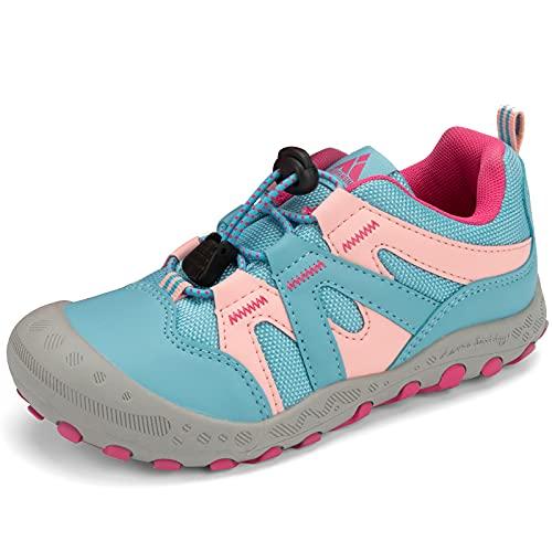 Mishansha Ragazza Scarpa da Trekking Antiscivolo Traspiranti Calzature da Escursionismo Casual Piatto Sneaker Sportive Leggero, Rosa Blu 24 EU