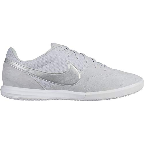 Nike The Premier II, Zapatillas de fútbol Sala Unisex Adulto, Multicolor (Pure Platinum/Metallic Silver/White 000), 42 EU