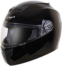 Vega Edge Full Face Helmet (Black, Large)
