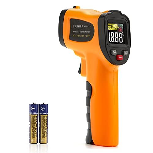 Termómetro Infrarrojo, Eventek Digital Laser IR Sin Contacto, Pistola de Temperatura, No se Puede Medir la Fiebre (ET327C, -50°C~750°C (-58°F~1382°F))【Uso no corporal】