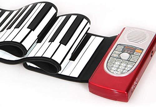 XINRUIBO Rollo eléctrico en el Piano, Llaves portátiles 61 Teclas electrónica Teclado de Mano para niños Batería para Principiantes o USB Alimentado con Altavoz más Fuerte Piano Infantil