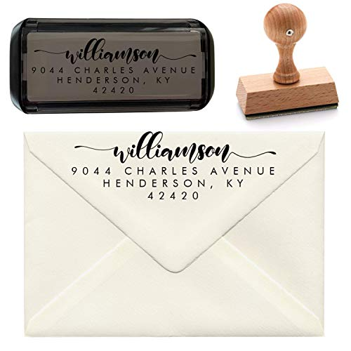 Custom Return Address Stamp | Self Inking Return Address Stamps | Personalized Address Stamp Pickled Stamps (Design 1)