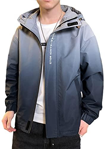 SLSCL 2025 primavera nuevos hombres chaqueta Corea juventud tendencia frita gradiente casual deportes con capucha chaqueta