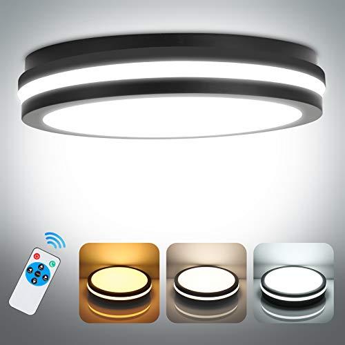 Led Deckenleuchte Dimmbar mit Fernbedienung, 24W 2400LM LED Deckenlampe Dimmbar, OPPEARL IP54 Badleuchte für Wohnzimmer Küche Badezimmer Büro Schlafzimmer ø26cm 2700K-6500K