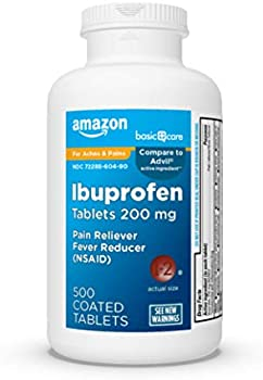 500-Count Amazon Basic Care Pain Reliever/Fever Reducer Ibuprofen Tablets
