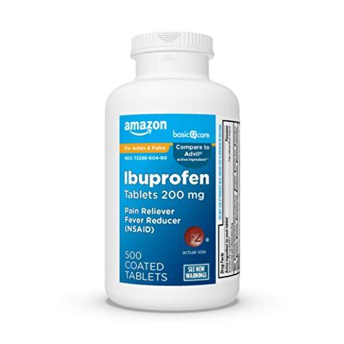 Amazon Basic Care Ibuprofen Tablets (500-Count) $2.91
