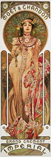 1art1 73691 Alphonse Mucha - Moët Et Chandon, 1899, 1-Teilig Fototapete Poster-Tapete 250 x 79 cm