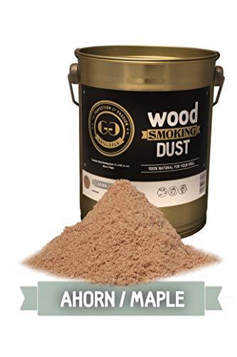 Grillgold Räuchermehl Wood Smoking Dust in Eimer befüllt mit 2 Liter Ahorn