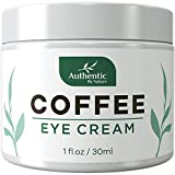 Caffeine Eye Cream For Anti Aging, Dark Circles, Bags, Puffiness. Great Under Eye Skin + Face Tightening, Eye Lift Treatment For Women, Men. Coffee, Avocado Oil, Algae, Jojoba, Vitamin C, Peptides