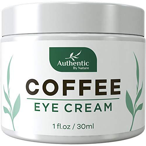 Caffeine Eye Cream For Anti Aging, Dark Circles, Bags, Puffiness. Great Under Eye Skin + Face Tightening, Eye Lift Treatment For Women, Men. Coffee, Avocado Oil, Algae, Jojoba, Vitamin C, Peptides