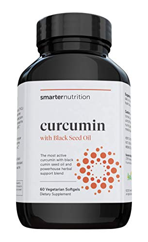 Smarter Nutrition Curcumin - Potency and Absorption in a SoftGel - The Most Active Form of Curcuminoid - 95% Tetra-Hydro Curcuminoids, 1 pack of 60 capsules - 30 Servings (Packaging May Vary)