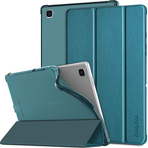 EasyAcc Hülle Kompatibel mit Samsung Galaxy Tab A7 10.4 SM-T500 T505 T507 2020, Transluzent TPU Schutzhülle Hülle Funktion Auto Schlaf Wach, Pfauenblau