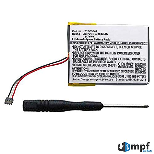 MPF Products 200mAh TL363844 Battery Replacement Compatible with Nest Learning Thermostat (1st Generation) T100577