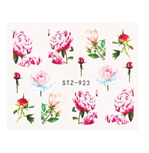 JSIYU Stickers Ongle Série de Fleurs Nail Water Decal Sticker Floral Sakura Daisy Rose Leaf Transfer Slider Foil Nail Decoration F-Y01