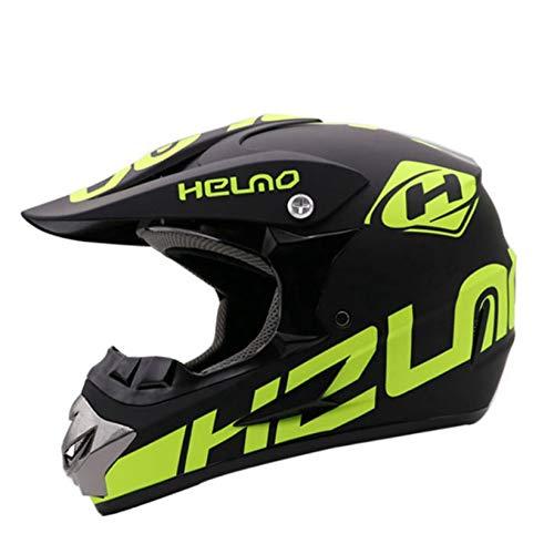 Casco de Motocross para Hombre, protección UV al Aire Libre, Casco de Moto antiniebla antichoque, Gorras de Moto de Carreras en Todas Las Estaciones