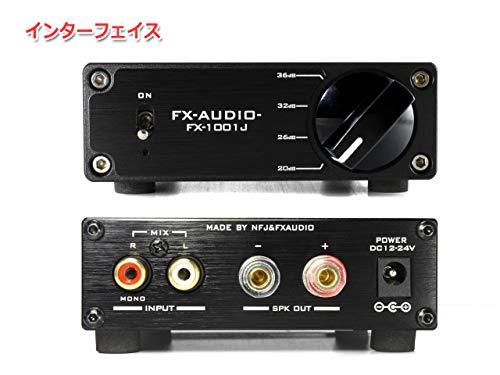 『FX-AUDIO- FX-1001J TPA3116デジタルアンプIC搭載 PBTL モノラル パワーアンプ 100W×1ch ParallelBT (ブラック)』の3枚目の画像