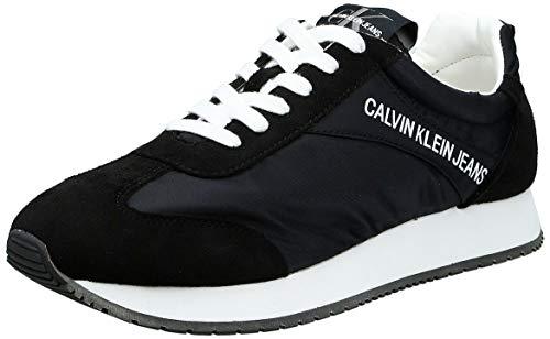 Calvin Klein Jerrold Black S0615 Zapatillas para Hombre, 44