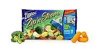 Ziploc Zip'N スチームクッキングバッグ Mサイズ 10枚 (8枚パック)