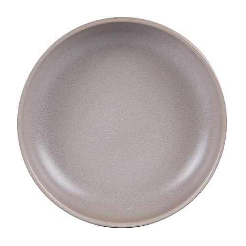 Table Passion - Plato hondo 22 cm, color gris reactivo (lote de 6)