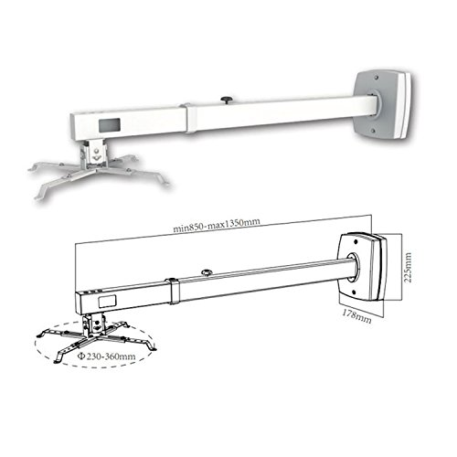 Approx APPSV03P Montaje Projector Pared Blanco - Soporte