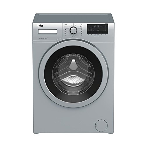 Beko WTV 8632 XCX Independiente Carga frontal 8kg 1200RPM A+++ Acero inoxidable - Lavadora (Independiente, Carga frontal, Acero inoxidable, Botones, Giratorio, 170°, Acero inoxidable)