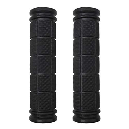 nuoshen Bike Handlebar Grips, Soft Rubber Non-Slip Cycling Grips for Scooter Cruiser Tricycle Wheel Chair Mountain Road Urban Bike (Black)