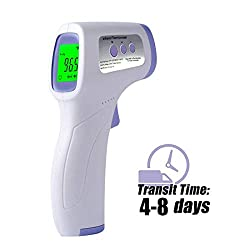Digital Infrared Forehead Thermometer, Non-Contact Thermometer for Baby Kids Child and Adults, Accurate Instant Measurement, No Touch Forehead Temperature Gun with Celsius Fahrenheit and LCD Display
