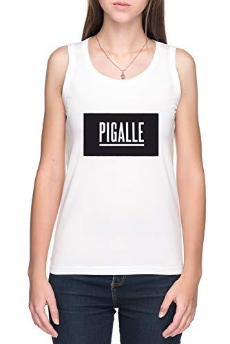 Pigalle Damen Tank T-Shirt Weiß