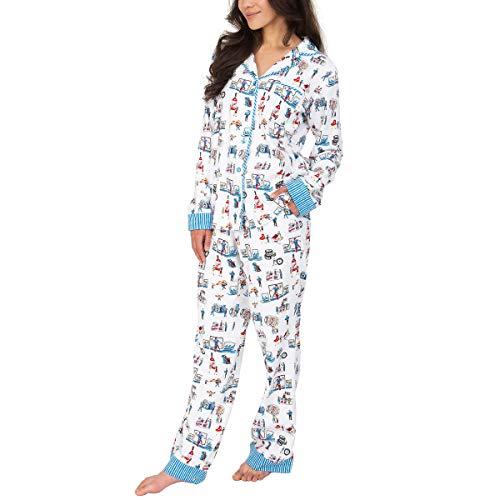 Munki Munki Pajamas for Women Classic Flannel PJ Set Long Sleeve (Costco 2019, Small)