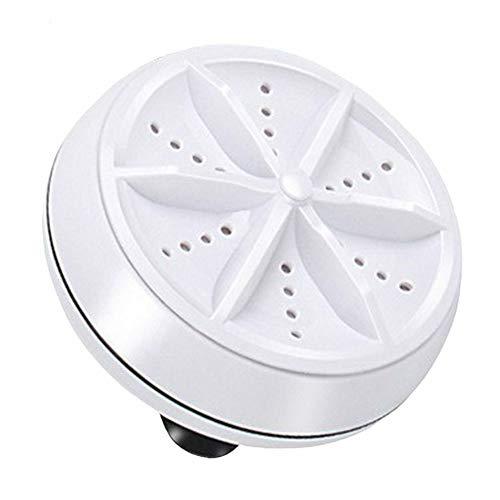 SXZG Mini Lavadora portátil, Lavadora Turbo con ultrasonidos alimentados por USB, burbujeador Que Elimina la Suciedad, para Viajes, Negocios, Apartamentos, lavandería Personal Ligera