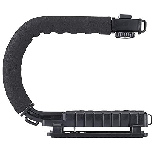 Boltove® Universal Stabilizer C-Shape Bracket Video Handheld Grip for DSLR DV Camera (Black)