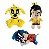 Peluche Mikecrack Mike-crack de 9.8', Mikecrack Yellow Dog Timba VK y muñeco de peluche El Trollino para fanáticos de los juegos (3 Pcs)