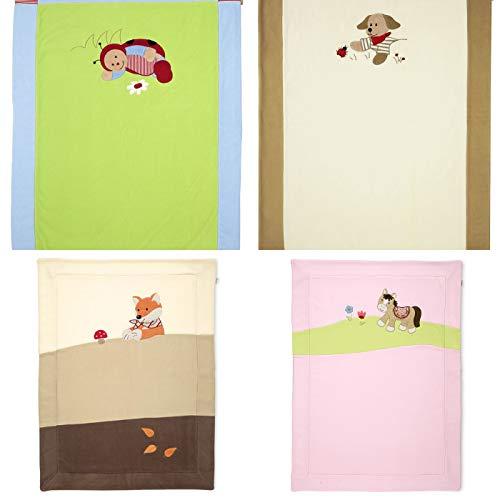 Sterntaler Schmusedecke Kuscheldecke Babydecke aus Microfleece für Mädchen und Jungen (Hanno der Hund)