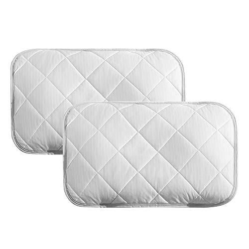 クモリ(Kumori) ひんやり 枕パッド 2枚セット 冷感 枕カバー ピローパッド 洗える 丸洗いOK 速乾 抗菌防臭加工 (35X50cm・二枚組 ライトグレー)