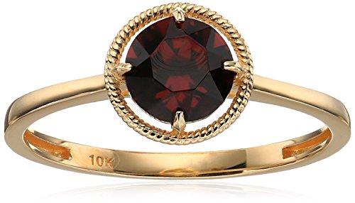 Amazon Collection 10k Gold Swarovski Crystal January Birthstone Ring, Size 7