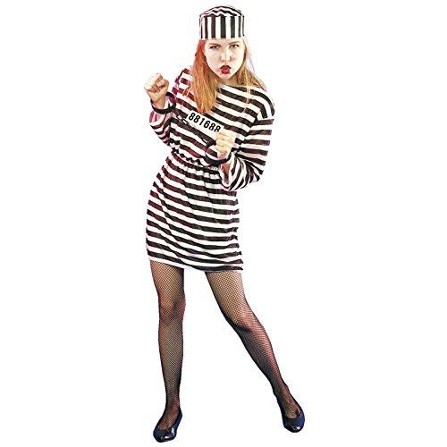 Costume Carnevale Halloween Carcerata Prigioniera da Donna Vestito Travestimento