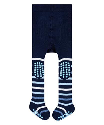 FALKE Unisex Baby Strumpfhose Multi Stripe, Baumwolle, 1 Paar, Blau (Marine 6120), 12-18 Monate (80-92cm)