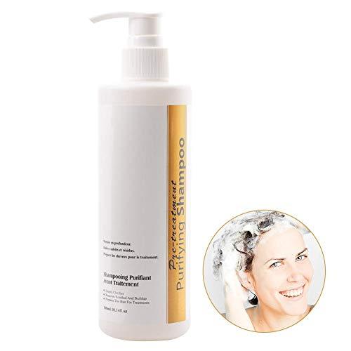 Champú Purificante 300ml Keratina profesional Champú de limpieza profunda Anti caspa Reparación de humedad para cabello normal a graso