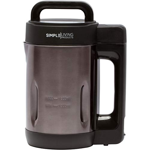 Simple Living Products 1.6L Deluxe Portable Soup Maker. Hot Soup Maker Machine is a 4-in-1...