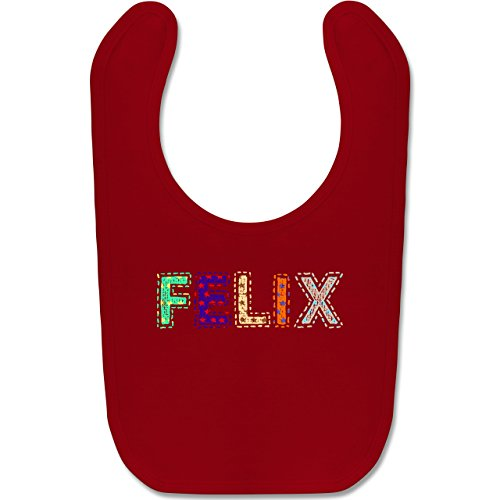 Kinderzeuch Junge - Name - FELIX Stern Bunt - Unisize - Rot - babylatz mit namen - BZ12 - Babylatz Lätzchen Geschenk Geburt