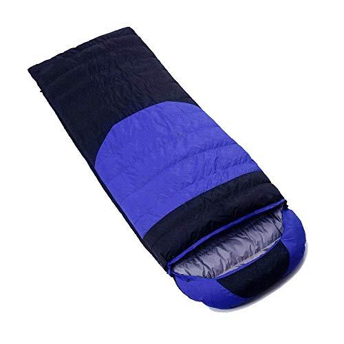 Calentar Bolsa de dormir para acampar Bolsa de dormir CALIENTE COMPRESIÓN COMPRESIÓN CARTE BOLSA INCLUIDO - Ideal para acampar, senderismo, mochilero, premios Doe, Festivales Impermeable (Color: Azul