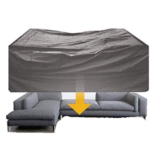 BAOFI Cubierta de Muebles de Jardin 60×60×60cm, Funda para Muebles de Patio Impermeable, sofá de Polvo Cubierta Protectora Externa sostenible, de 2 Colores,Gray