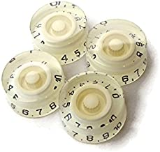 White Embossed Speed Knobs Gibson Les Paul/Epiphone Guitar (4-Pack) New