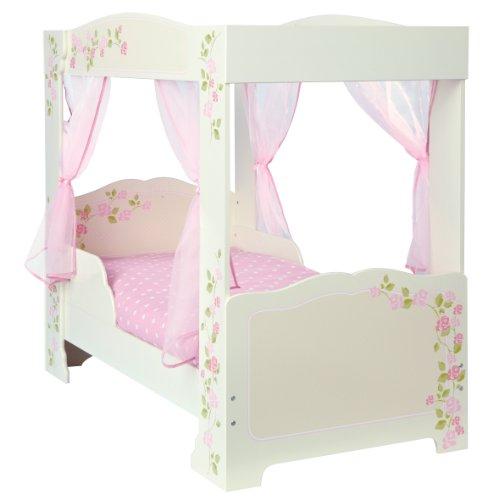 Himmelbett mit Rosenmotiv für Kleinkinder